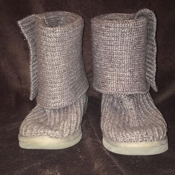 Ugg Shoes Grey Knit Boots Size 7 Poshmark